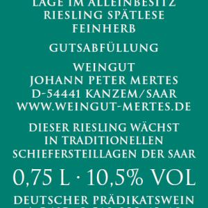 2017 Stirn Spätlese – Alte Reben