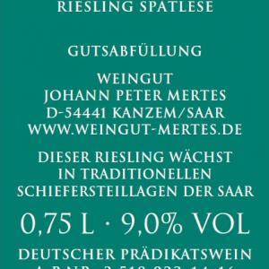 2015 Kanzemer Altenberg Spätlese