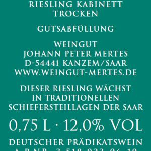 2018 Wawerner Ritterpfad Riesling Kabinett trocken