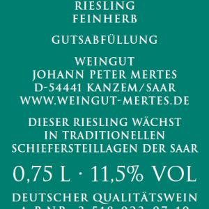 2018 Bockstein Riesling feinherb