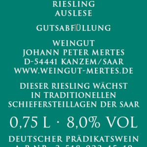 2018 Saarburger Stirn Riesling Auslese