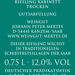 2019 Wawerner Ritterpfad Riesling Kabinett trocken
