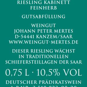 2019 Saarburger Stirn Riesling Kabinett