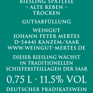 2019 Kanzemer Altenberg Alte Reben Spätlese