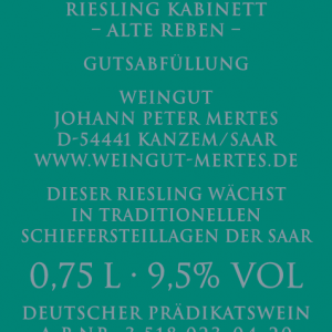2019 Saarburger Stirn Kabinett