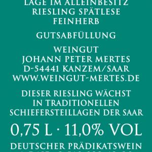 2019 Saarburger Stirn Spätlese Alte Reben