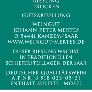 2020 Wawerner Goldberg Riesling trocken
