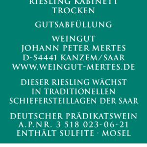 2020 Wawerner Ritterpfad Riesling Kabinett trocken