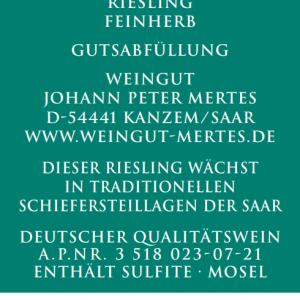 2020 Ockfener Bockstein Riesling feinherb