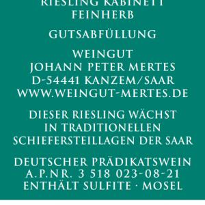 2020 Saarburger Stirn Kabinett feinherb