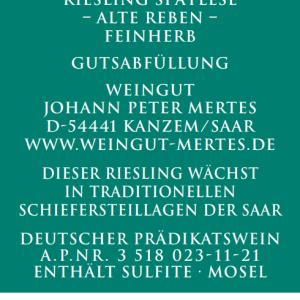 2020 Kanzemer Sonnenberg Riesling Spätlese Alte Reben